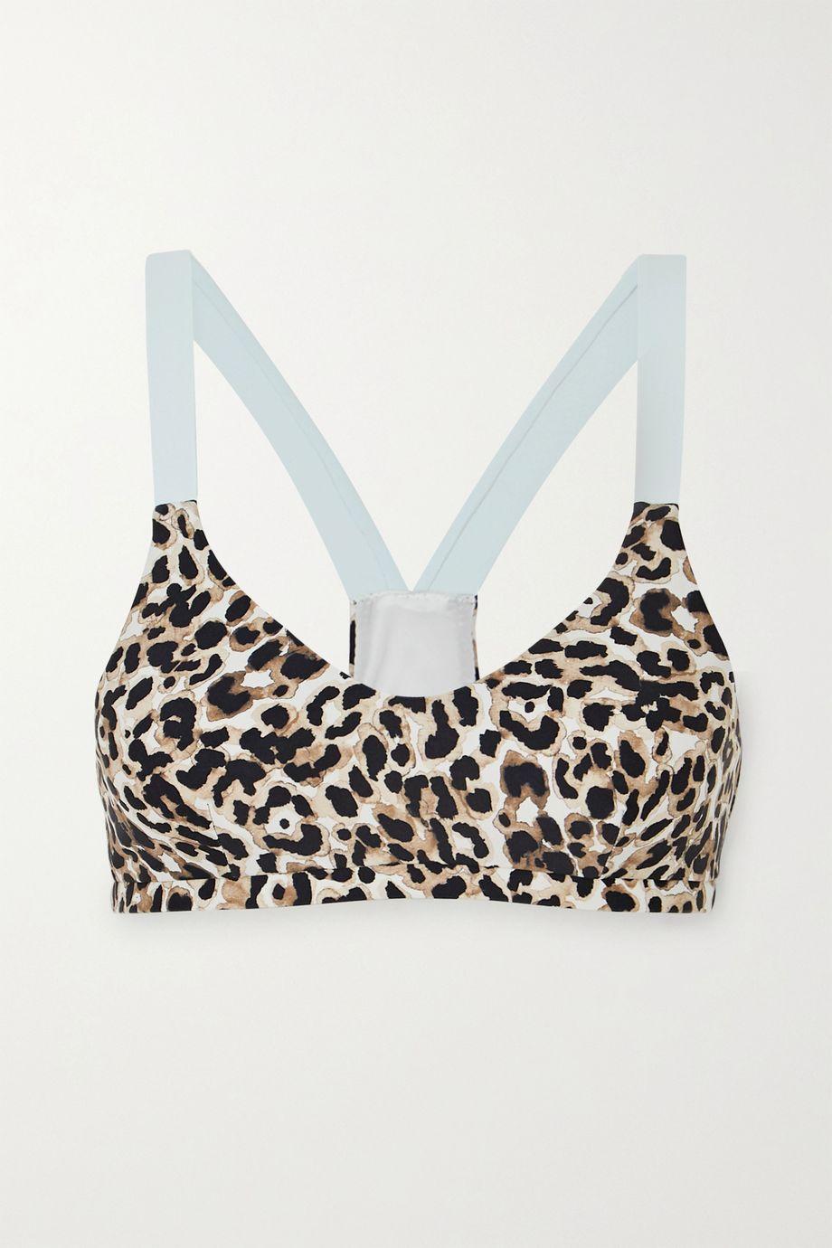 The Upside Water Leopard Larri printed stretch sports bra