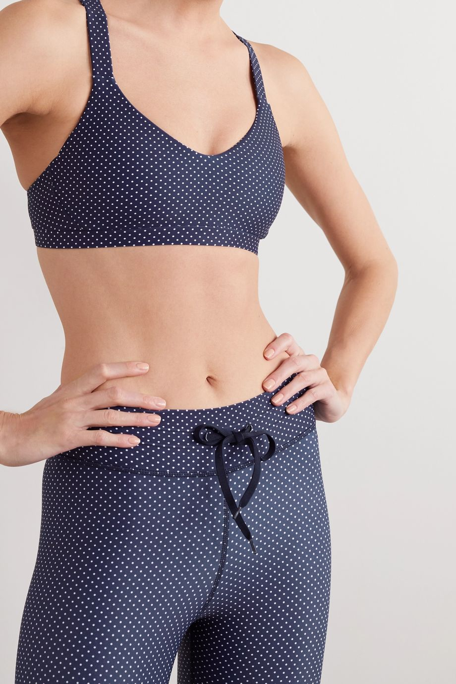 The Upside Sophie polka-dot stretch sports bra