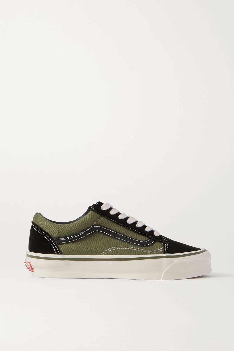 Vans Old Skool two-tone leather-trimmed canvas and suede sneakers