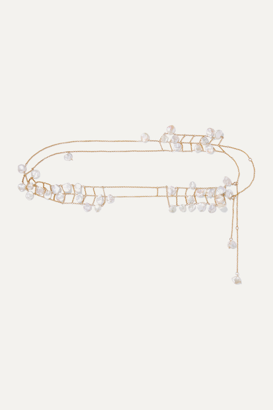 Alighieri Castaway gold-plated pearl belt
