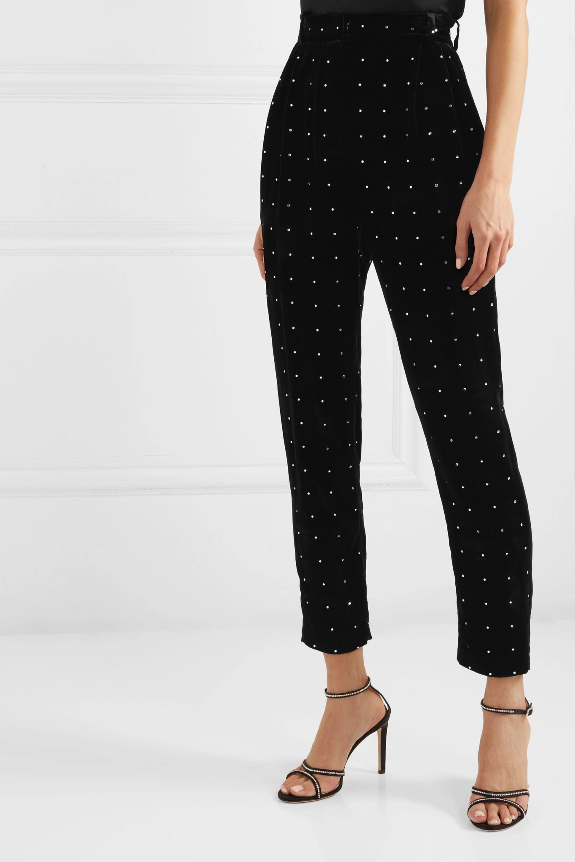 Magda Butrym Breda crystal-embellished velvet tapered pants