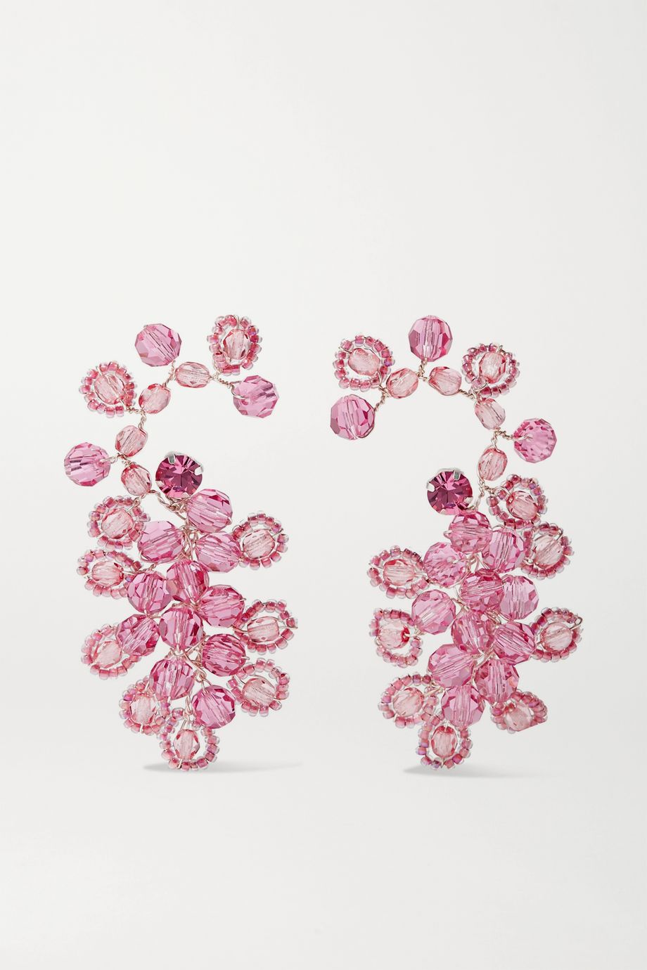 Magda Butrym Silver-tone and crystal earrings