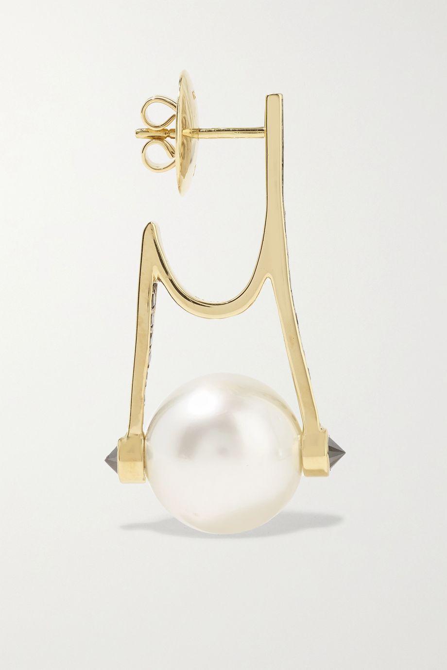 Ara Vartanian Ohrringe aus 18 Karat Gold mit Diamanten und Perlen