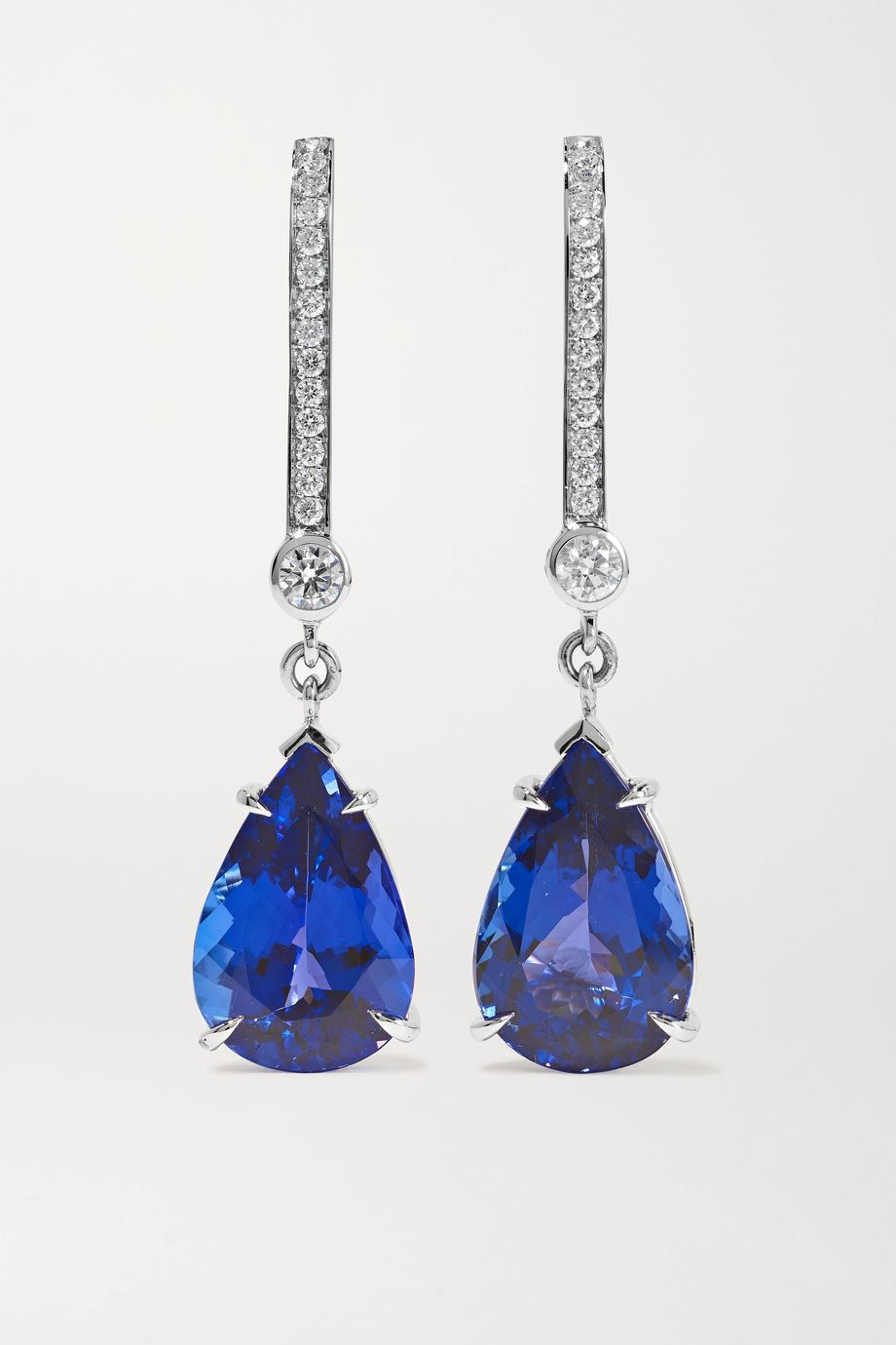 Ara Vartanian 18-karat white gold, tanzanite and diamond earrings