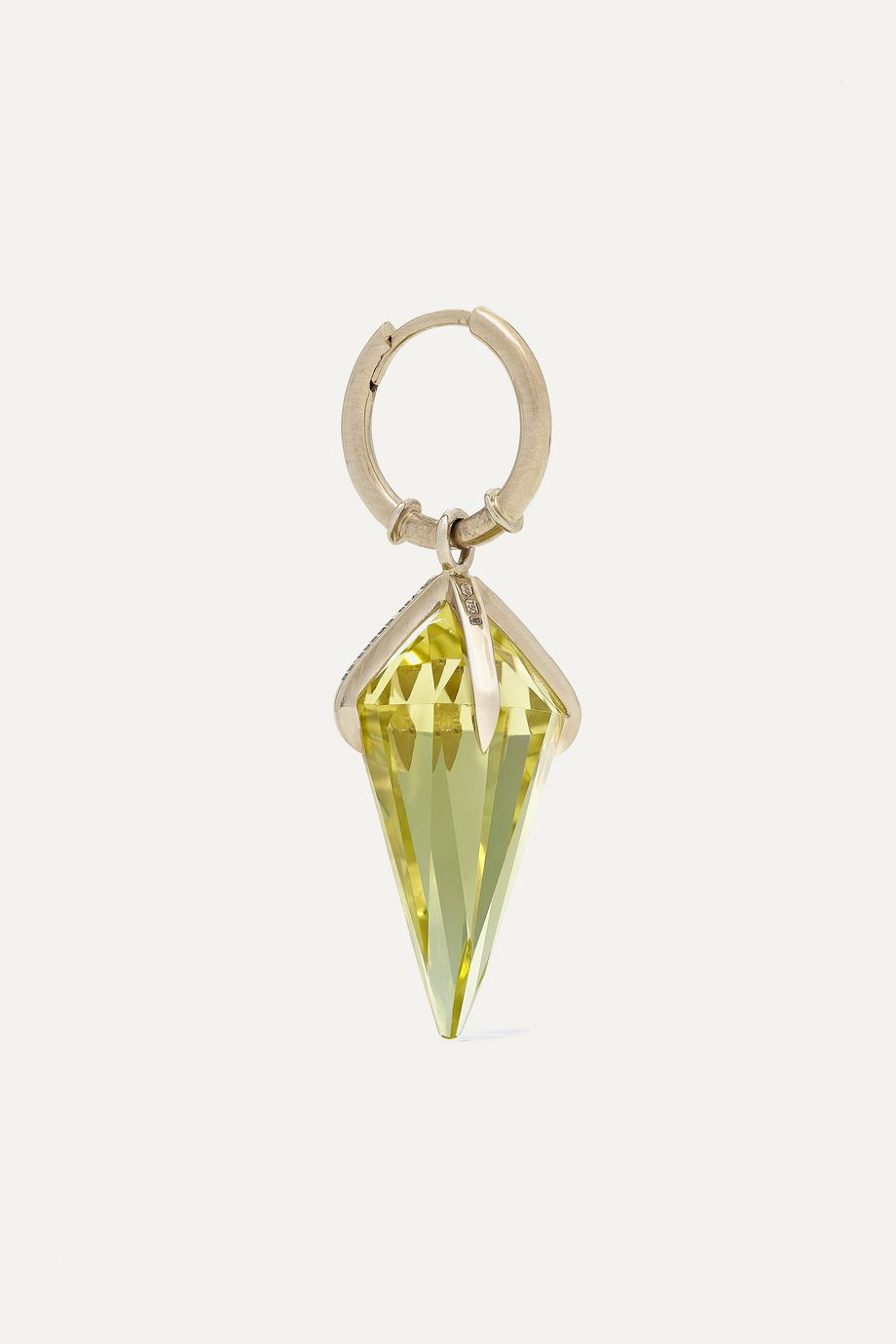 Ara Vartanian 18-karat white gold citrine earring
