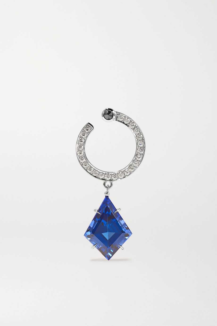 Ara Vartanian 18-karat white gold, tanzanite and diamond earring