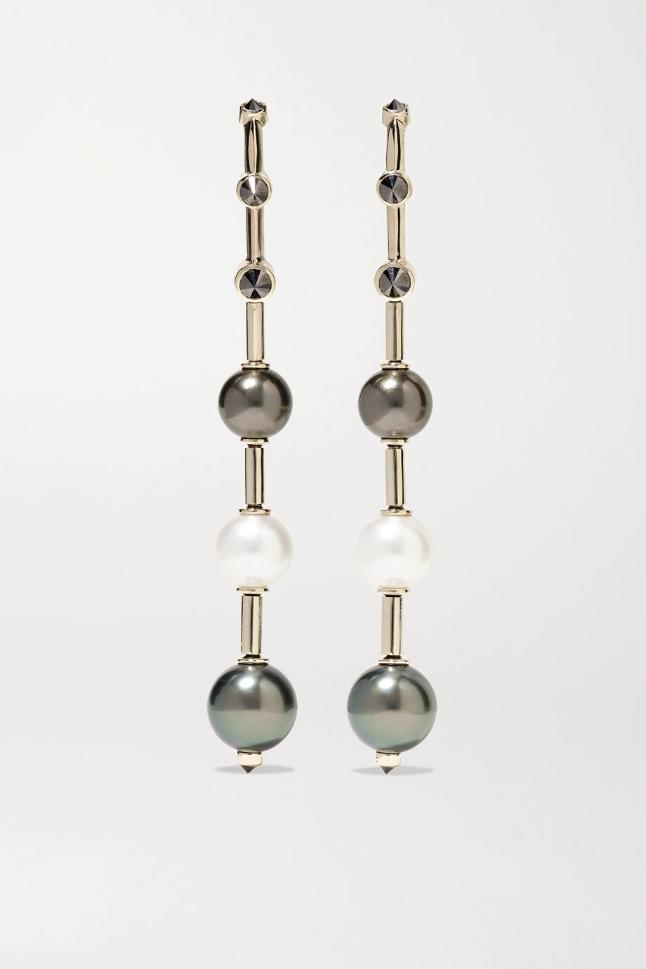 Ara Vartanian 18-karat white gold, pearl and diamond earrings