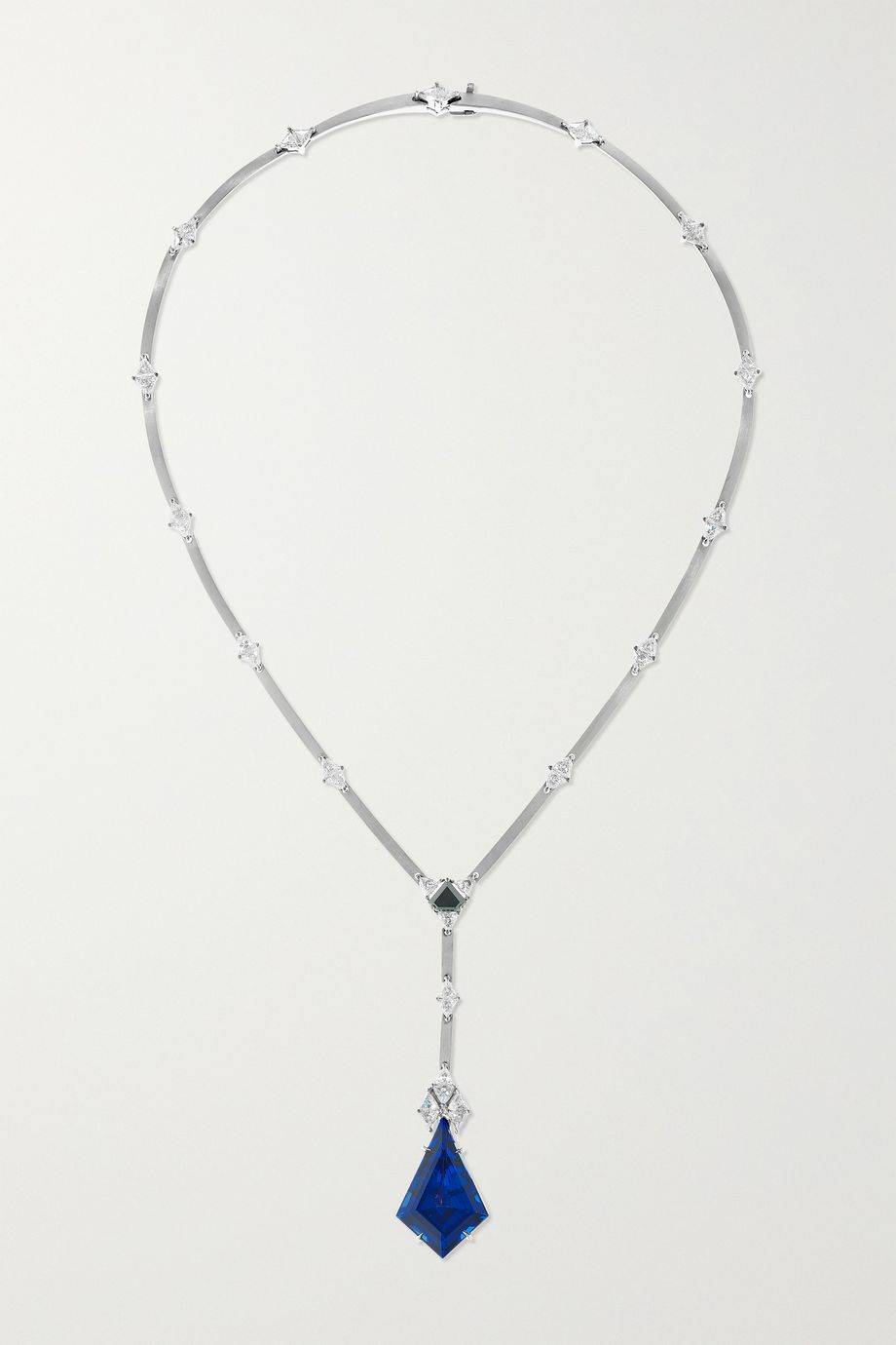 Ara Vartanian 18-karat white gold, tanzanite and diamond necklace