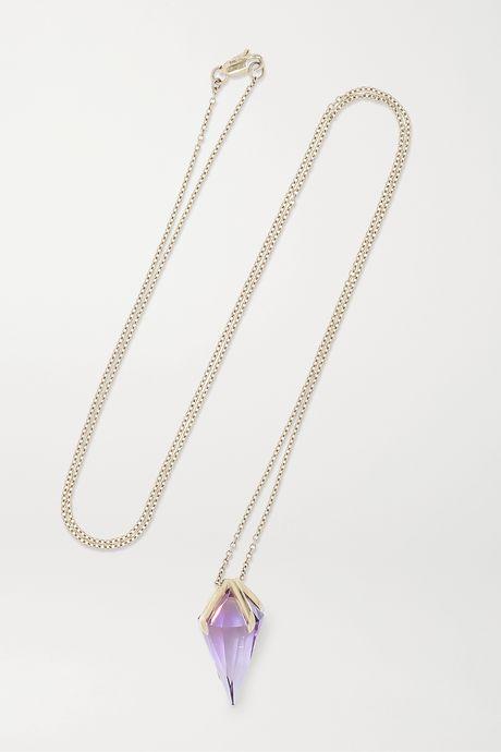 White gold 18-karat white gold amethyst necklace | Ara Vartanian zdIsHp