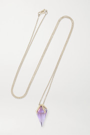 18-karat white gold amethyst necklace