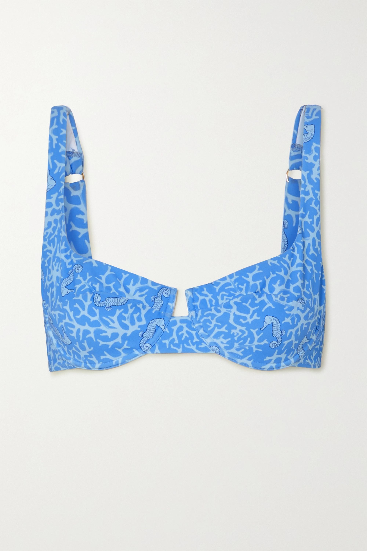 Fisch + NET SUSTAIN Grenadins printed bikini top