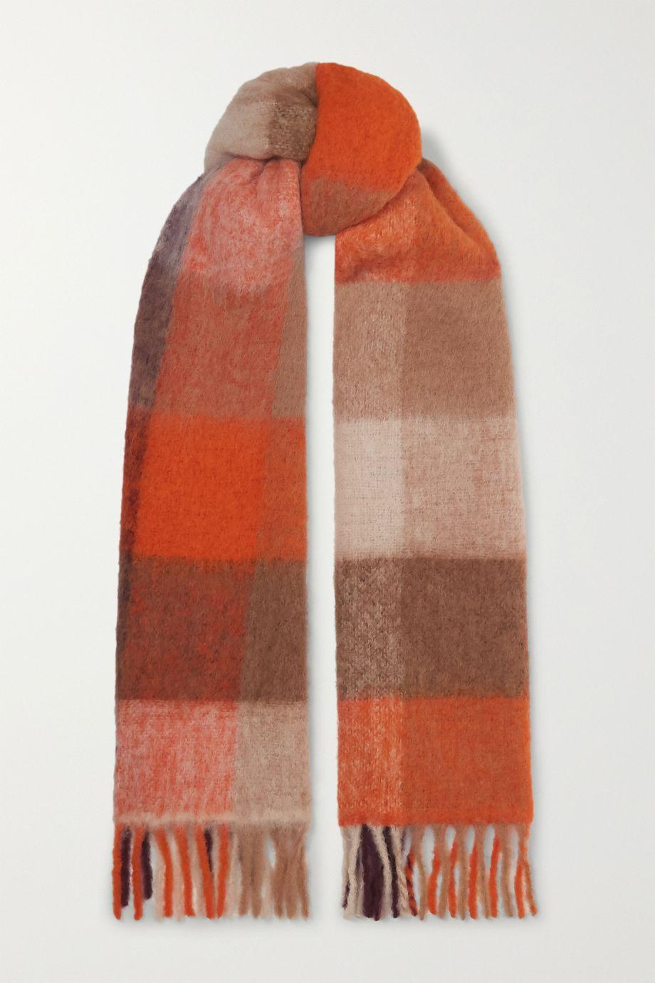 Holzweiler 【NET SUSTAIN】Ibisco 流苏格纹羊驼毛混纺围巾