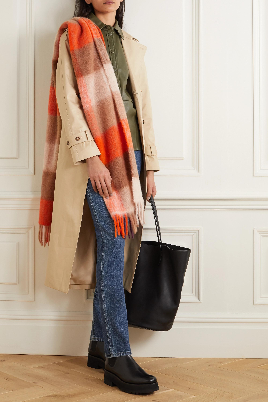 Holzweiler + NET SUSTAIN Ibisco fringed checked alpaca-blend scarf