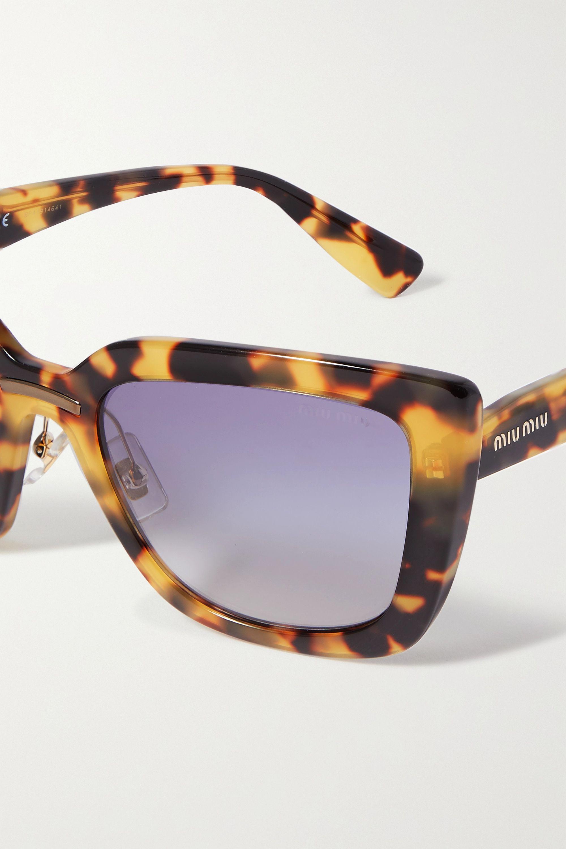 Miu Miu Eyewear Oversized cat-eye tortoiseshell acetate sunglasses