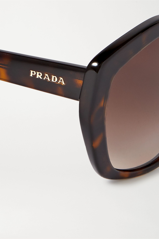 Prada Eyewear Hexagon-frame tortoiseshell acetate sunglasses