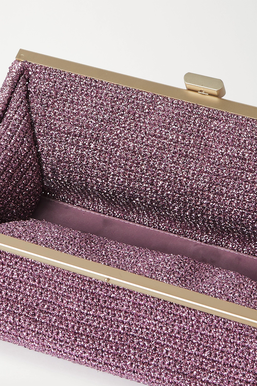 Mizele Bourse crochet-knit Lurex clutch