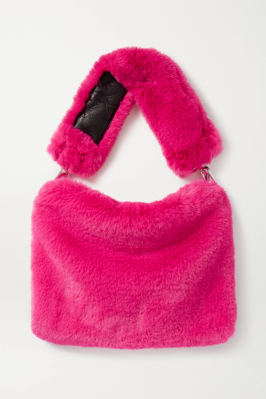 Stand Studio Luna faux fur shoulder bag