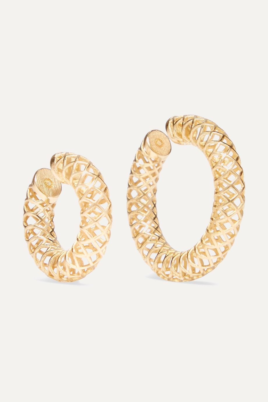 Saskia Diez Set of two gold-plated ear cuffs