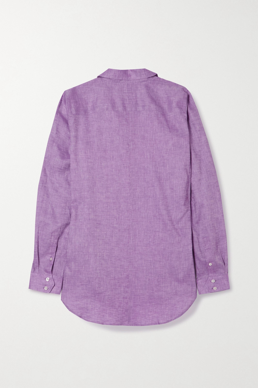 Pink Easylife Linen Shirt | Purdey