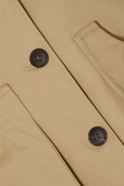 Purdey Faux suede-trimmed cotton-drill vest