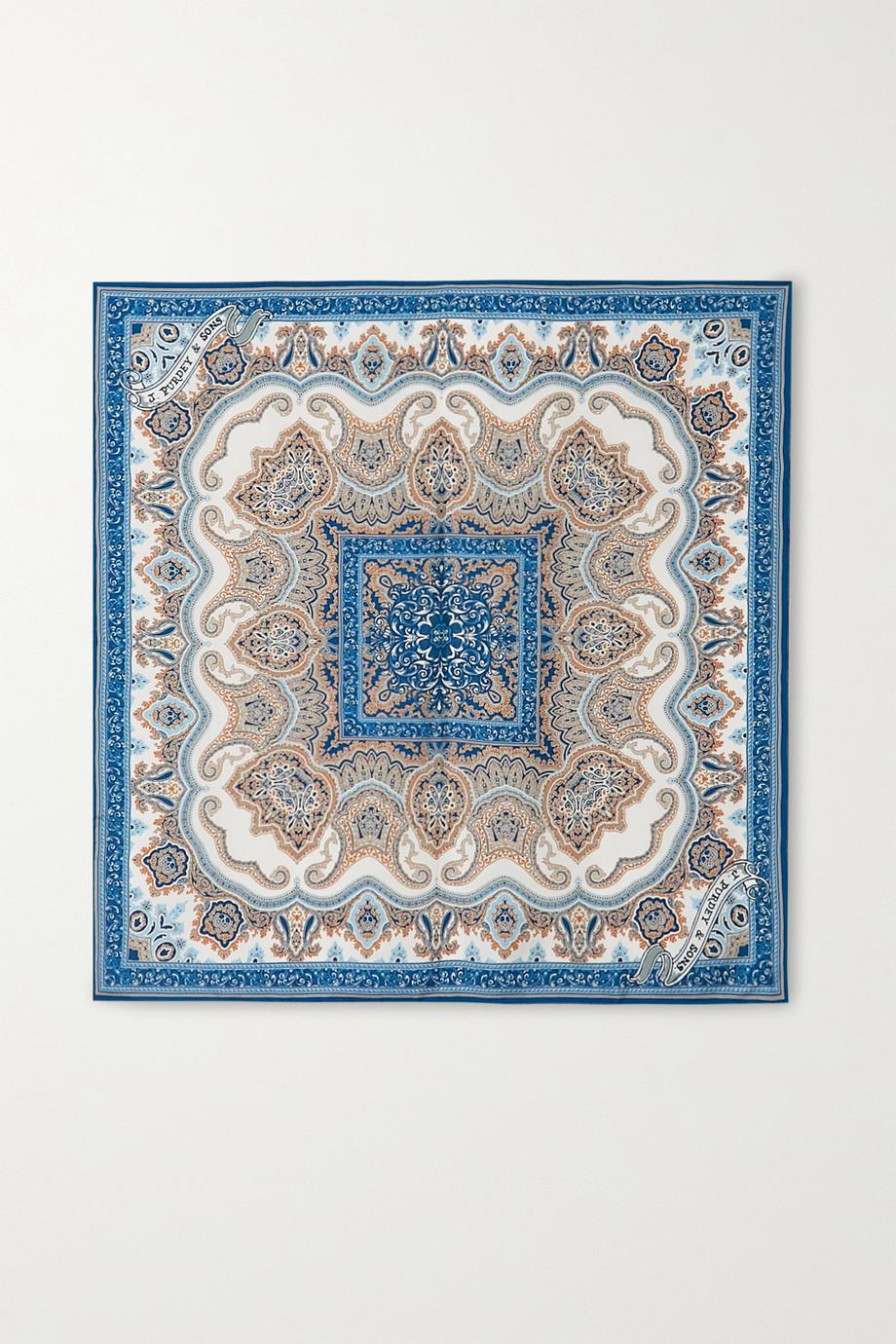Purdey Printed silk-twill scarf