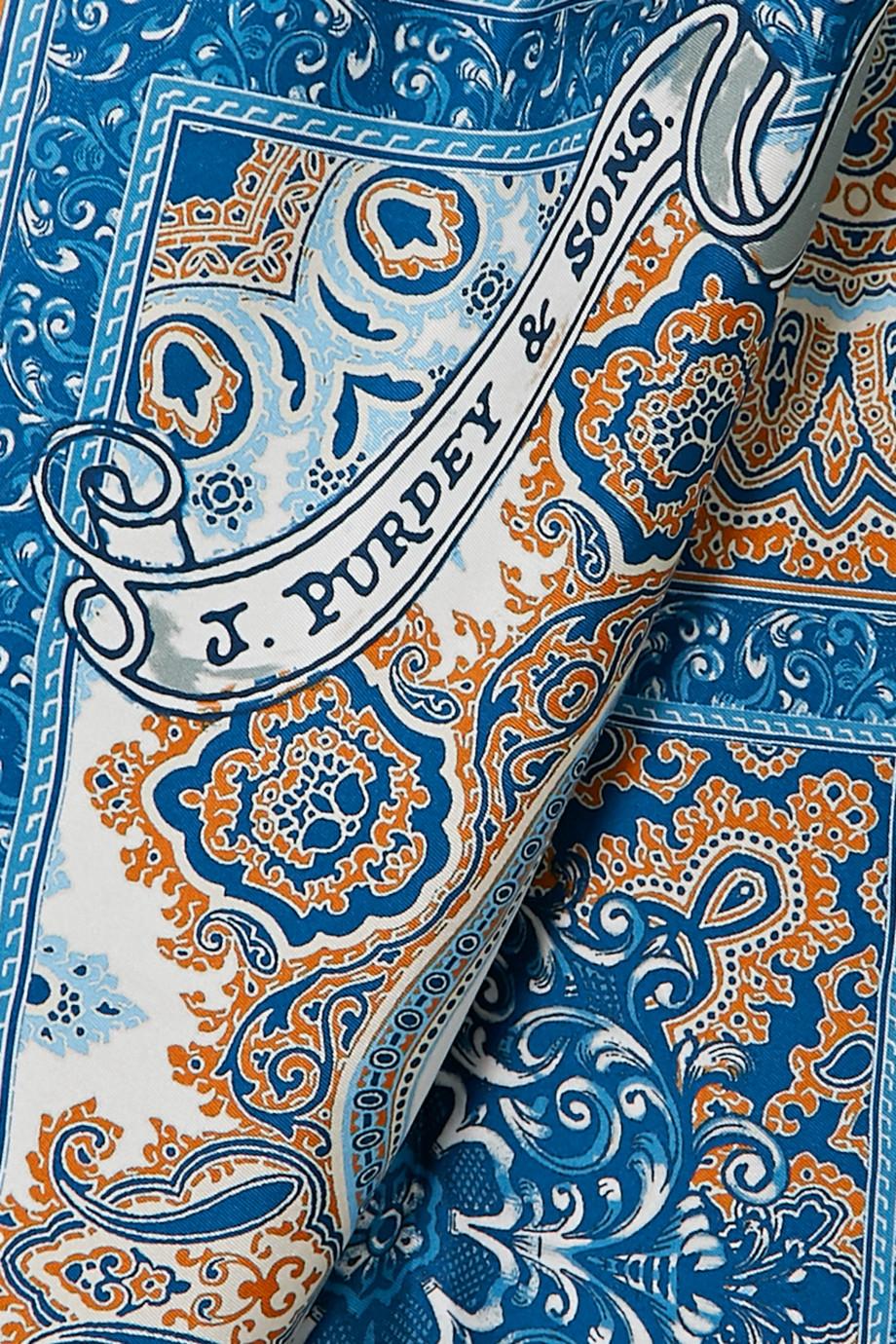 Purdey Foulard en serge de soie imprimée