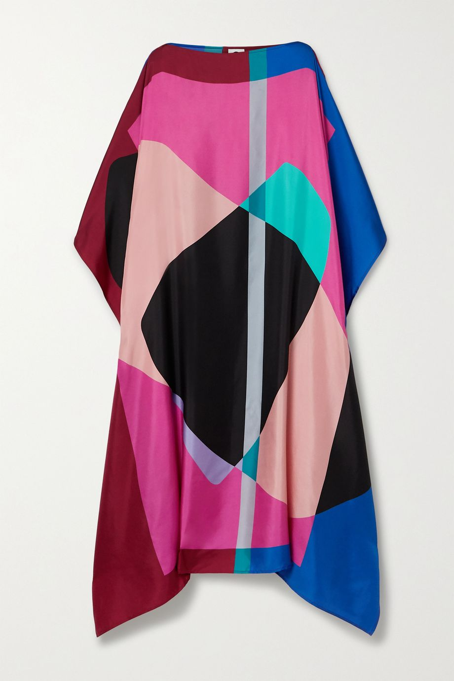 Louisa Parris Draper asymmetric printed silk-twill dress