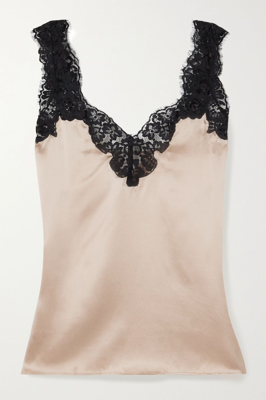 Cami NYC The Leia lace-trimmed silk-charmeuse camisole