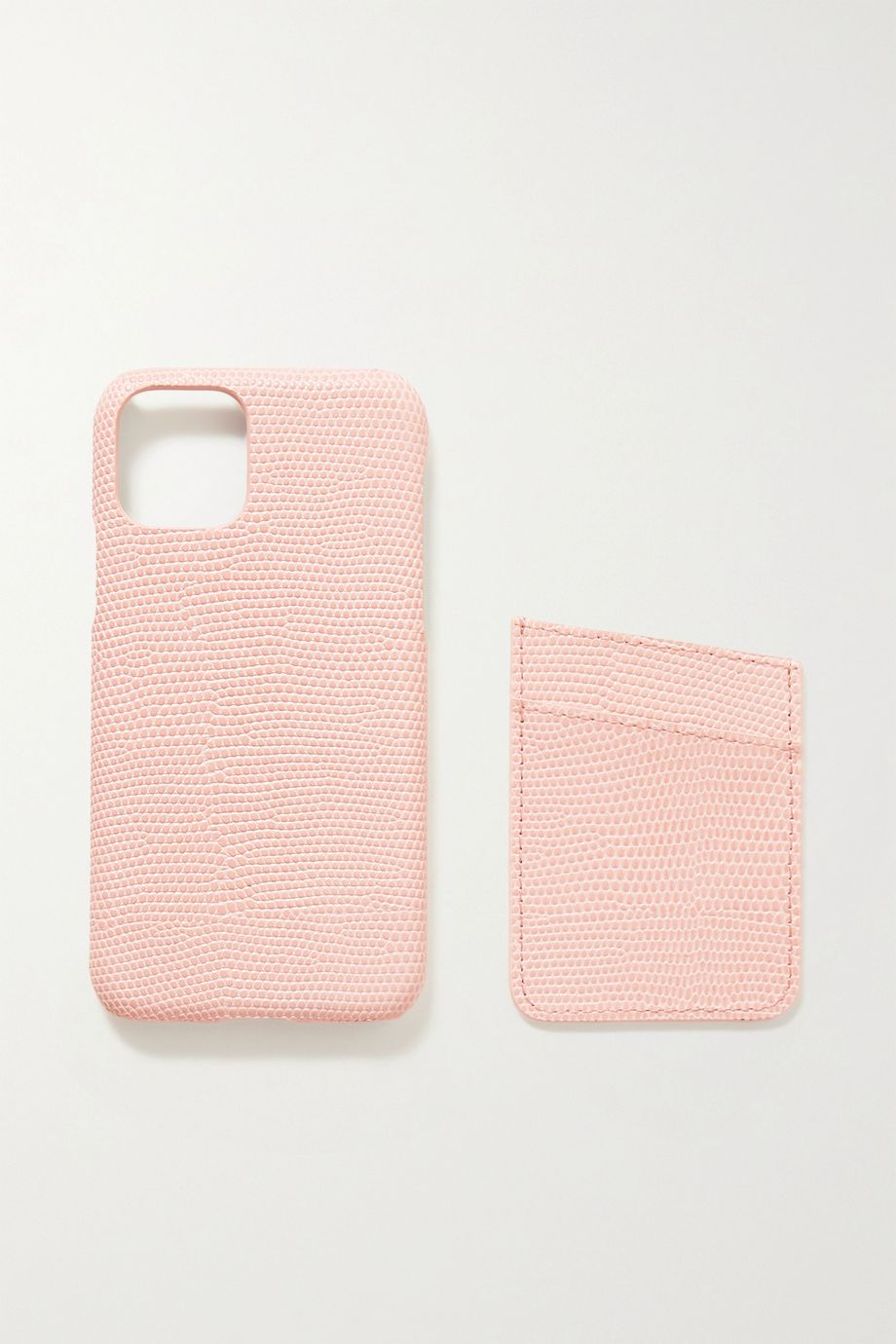 The Case Factory Lizard-effect leather iPhone 11 Pro case and cardholder set