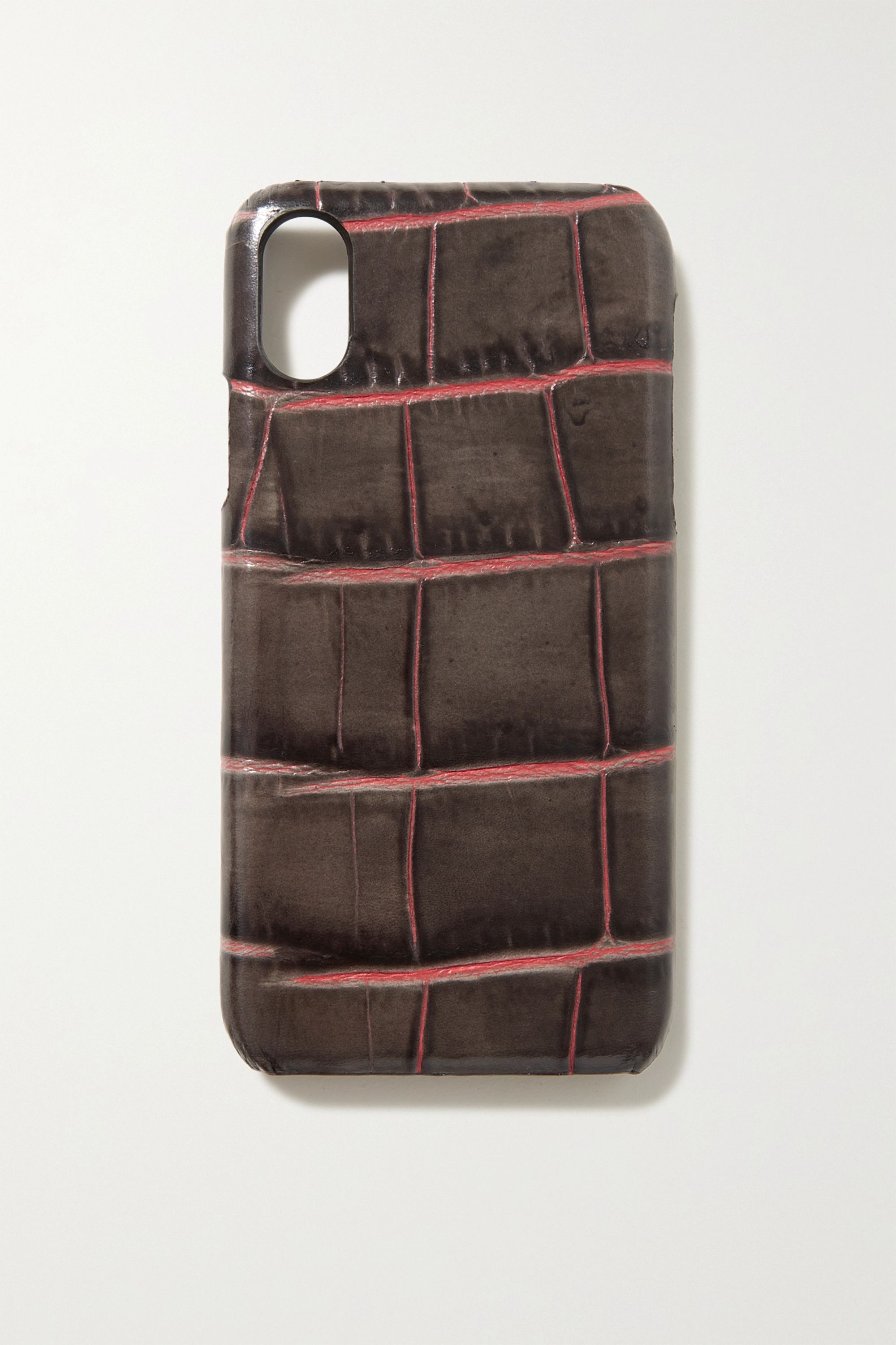 The Case Factory Croc-effect leather iPhone X and XS case