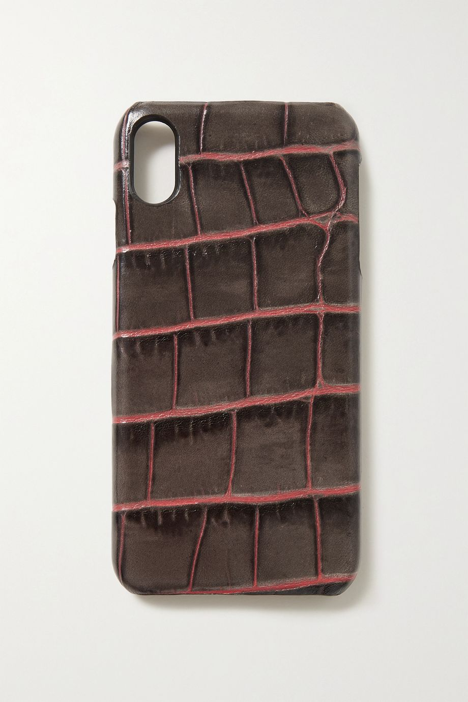 The Case Factory Croc-effect leather iPhone XS Max case