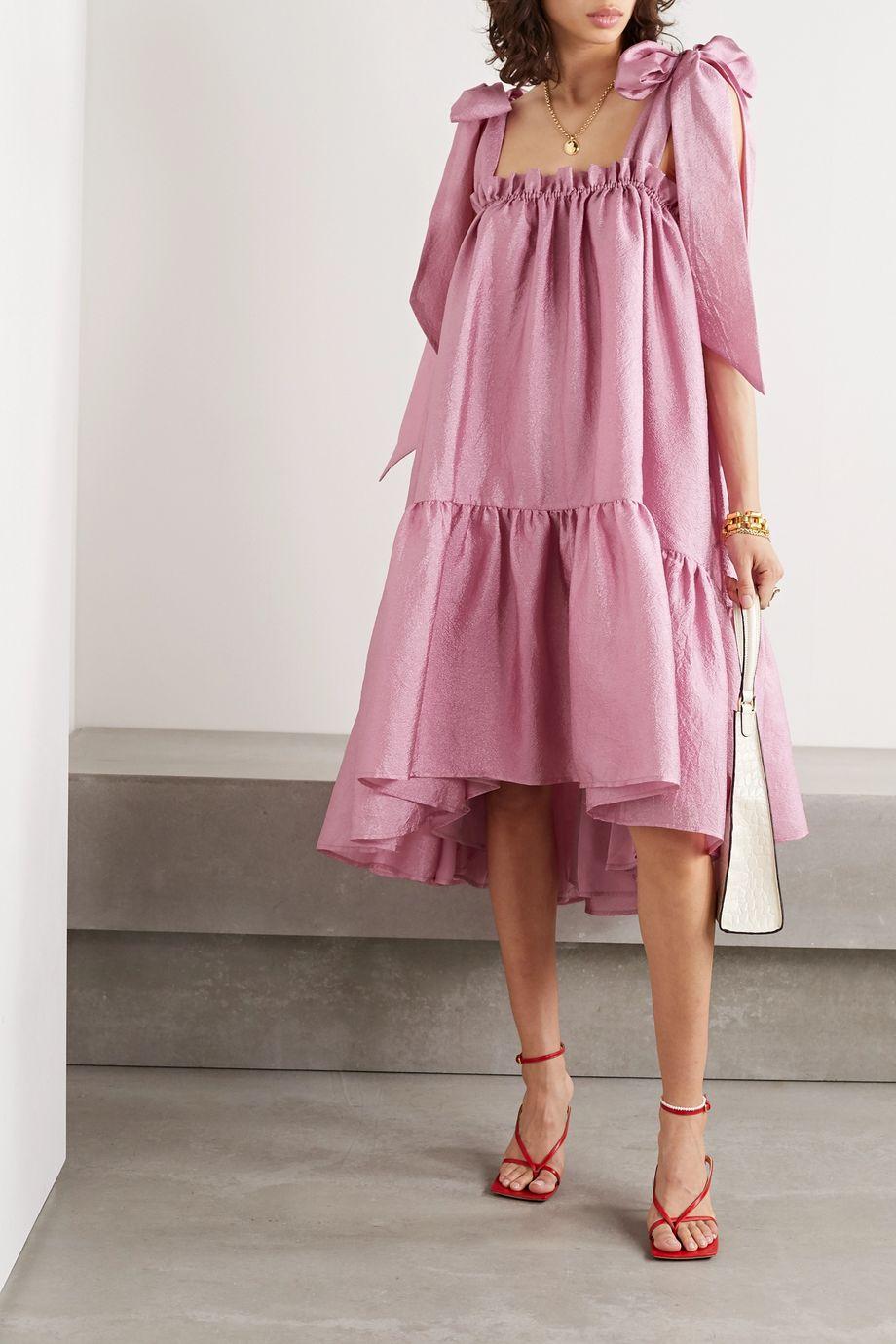 Stine Goya Serena tiered hammered-satin dress