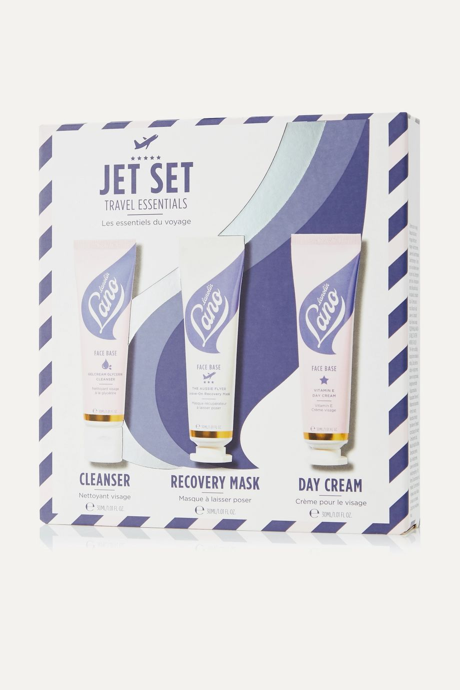 Lano - lips hands all over Jet Set Travel Face Trio