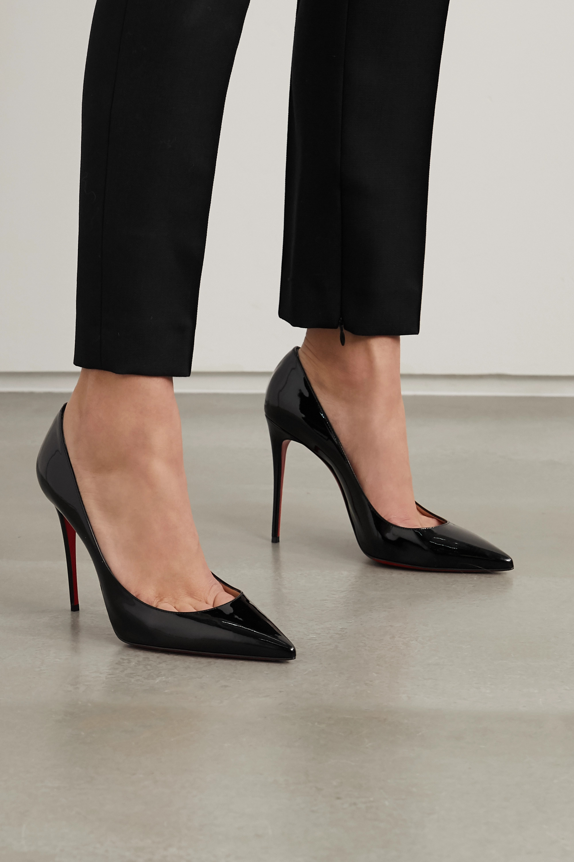 Christian Louboutin Kate 100 patent-leather pumps