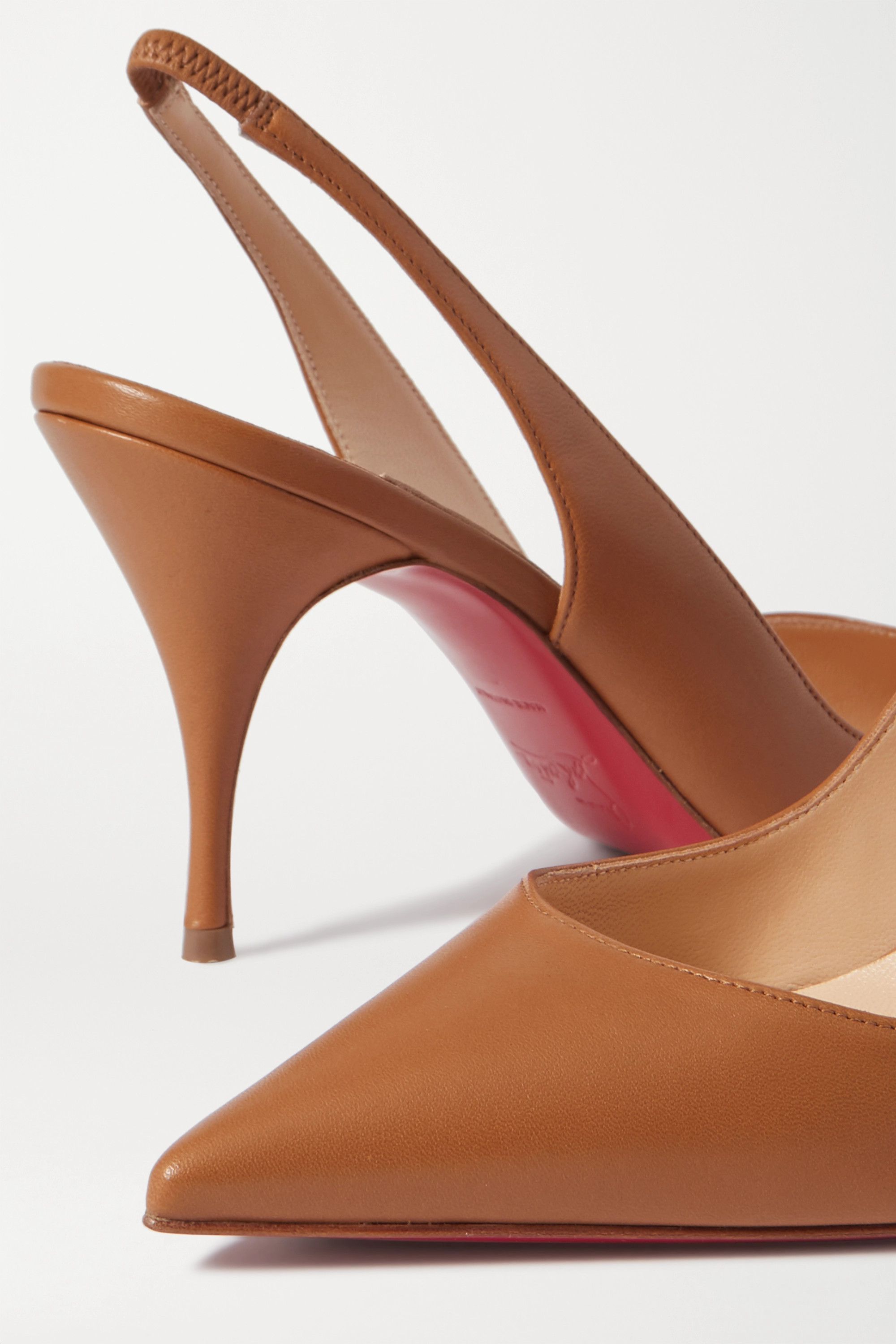 Christian Louboutin Clare 80 leather slingback pumps