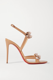 Christian Louboutin Galerietta 100 studded leather slingback sandals