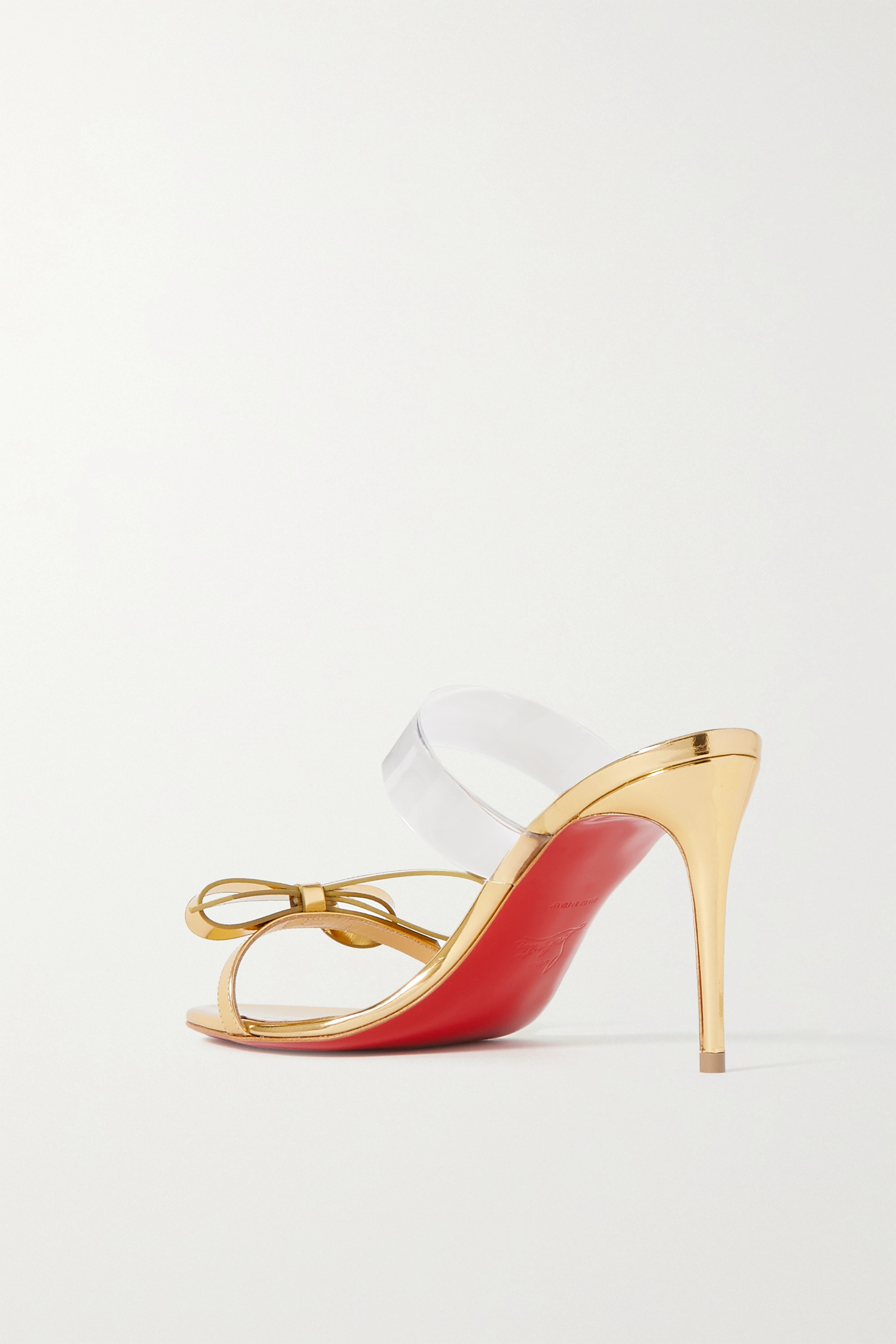 Christian Louboutin Just Nodo 85 mirrored-leather and PVC sandals