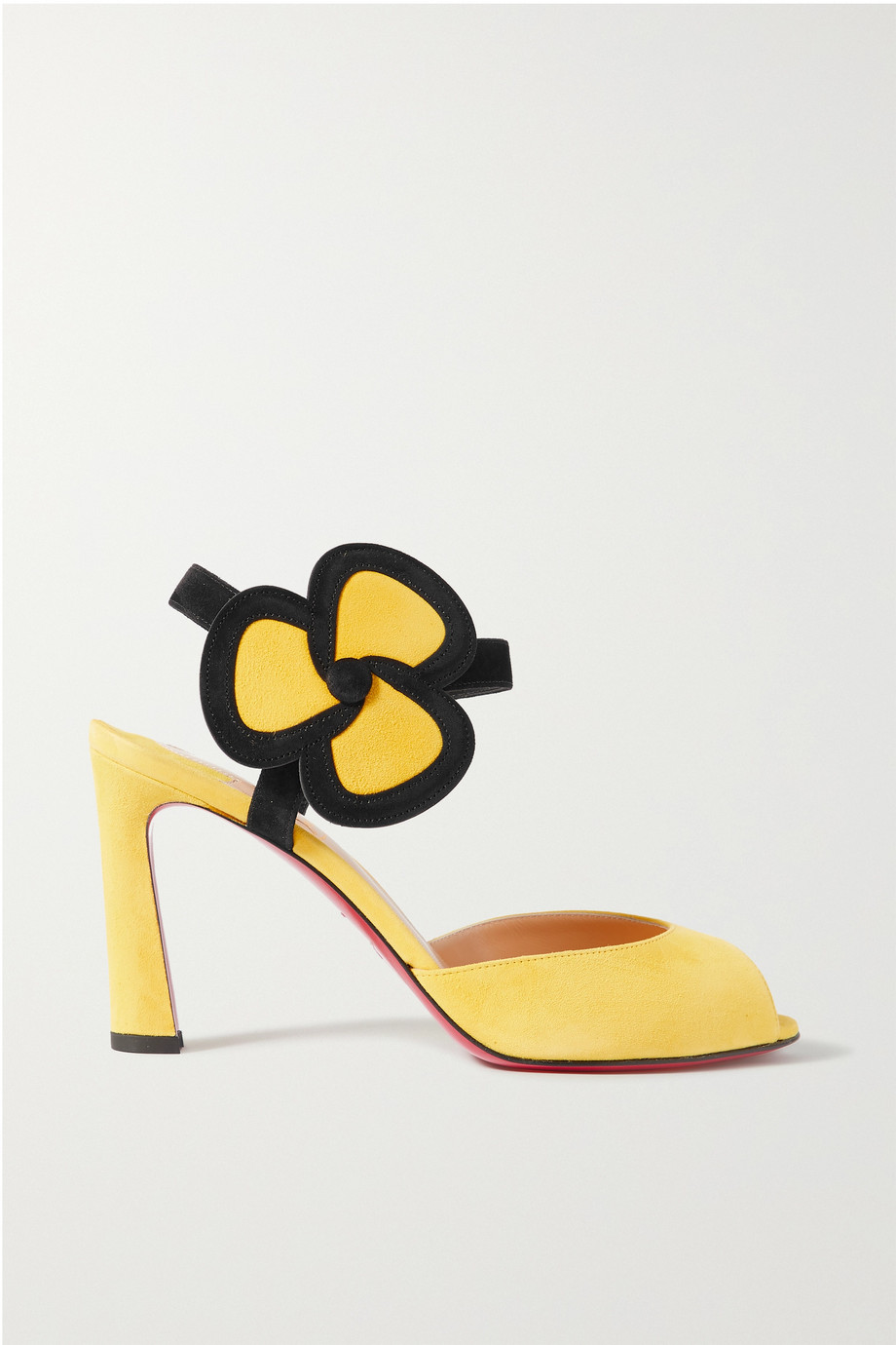 Christian Louboutin Pansy 85 two-tone suede sandals