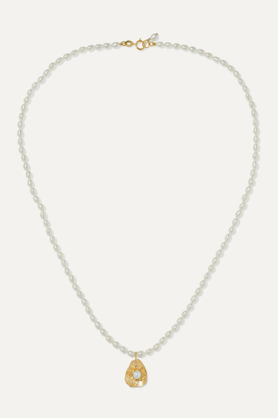 Poppy Finch 14K 黄金珍珠项链