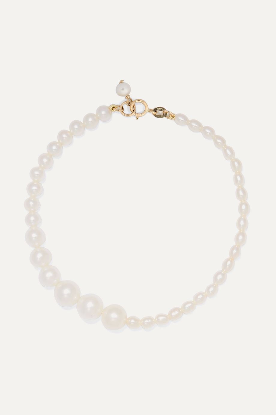 Poppy Finch Gold and pearl bracelet