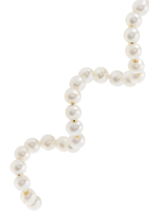 Yellow Gold Pearl Earrings | Poppy Finch