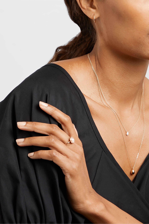 Poppy Finch 14-karat gold pearl ring