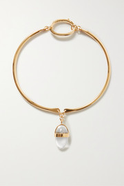 Tohum Lumia gold-plated and crystal choker