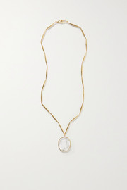 Tohum Lumia gold-plated and crystal necklace