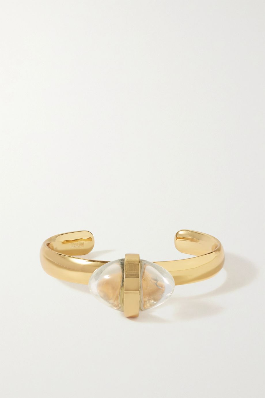 Tohum Lumia gold-plated and crystal cuff