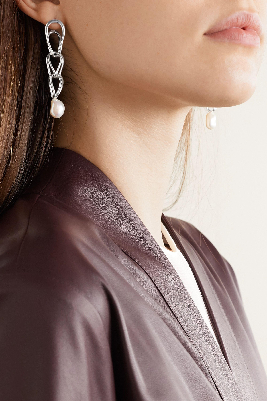 Nathalie Schreckenberg Lua silver pearl earrings