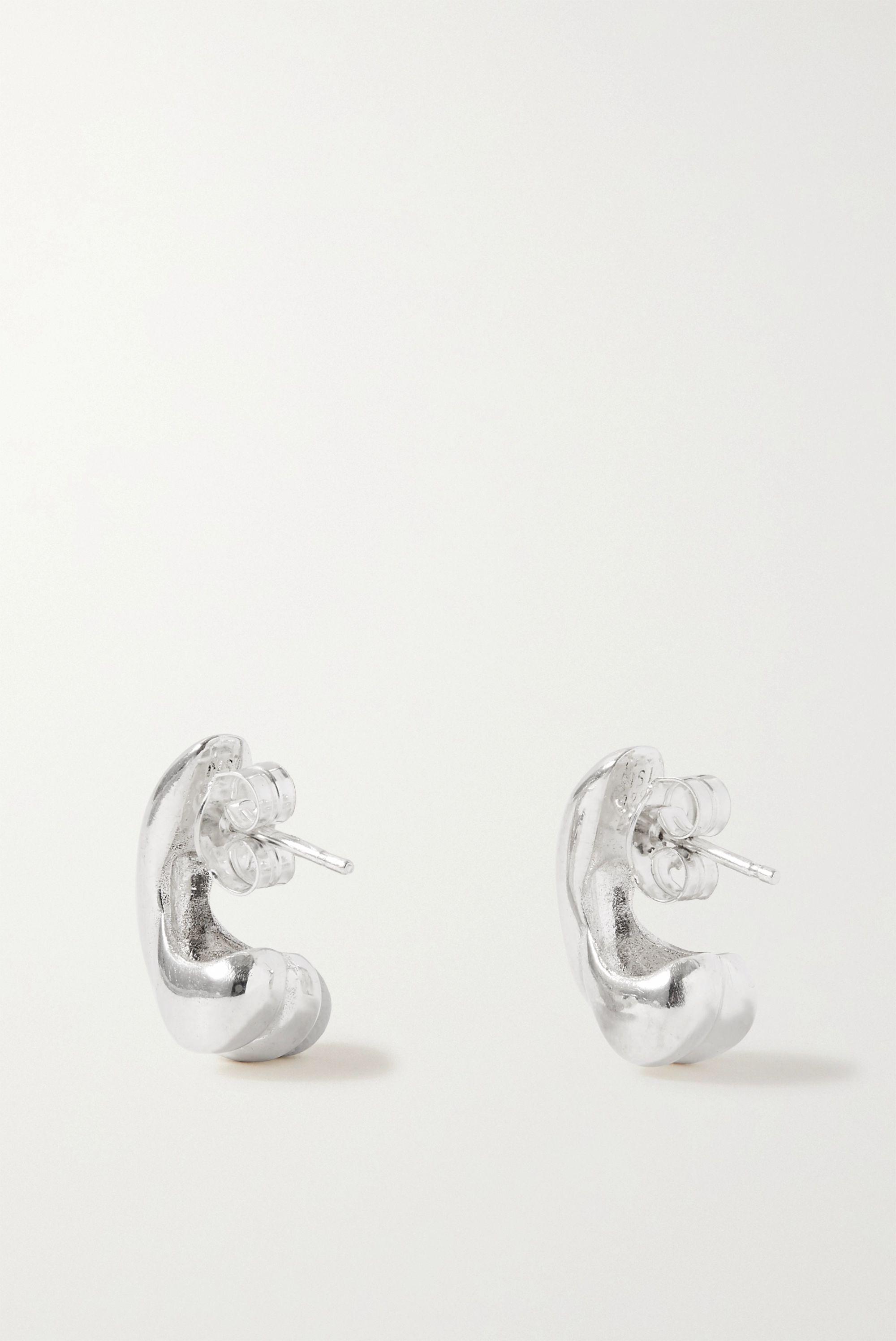 Nathalie Schreckenberg Par silver earrings
