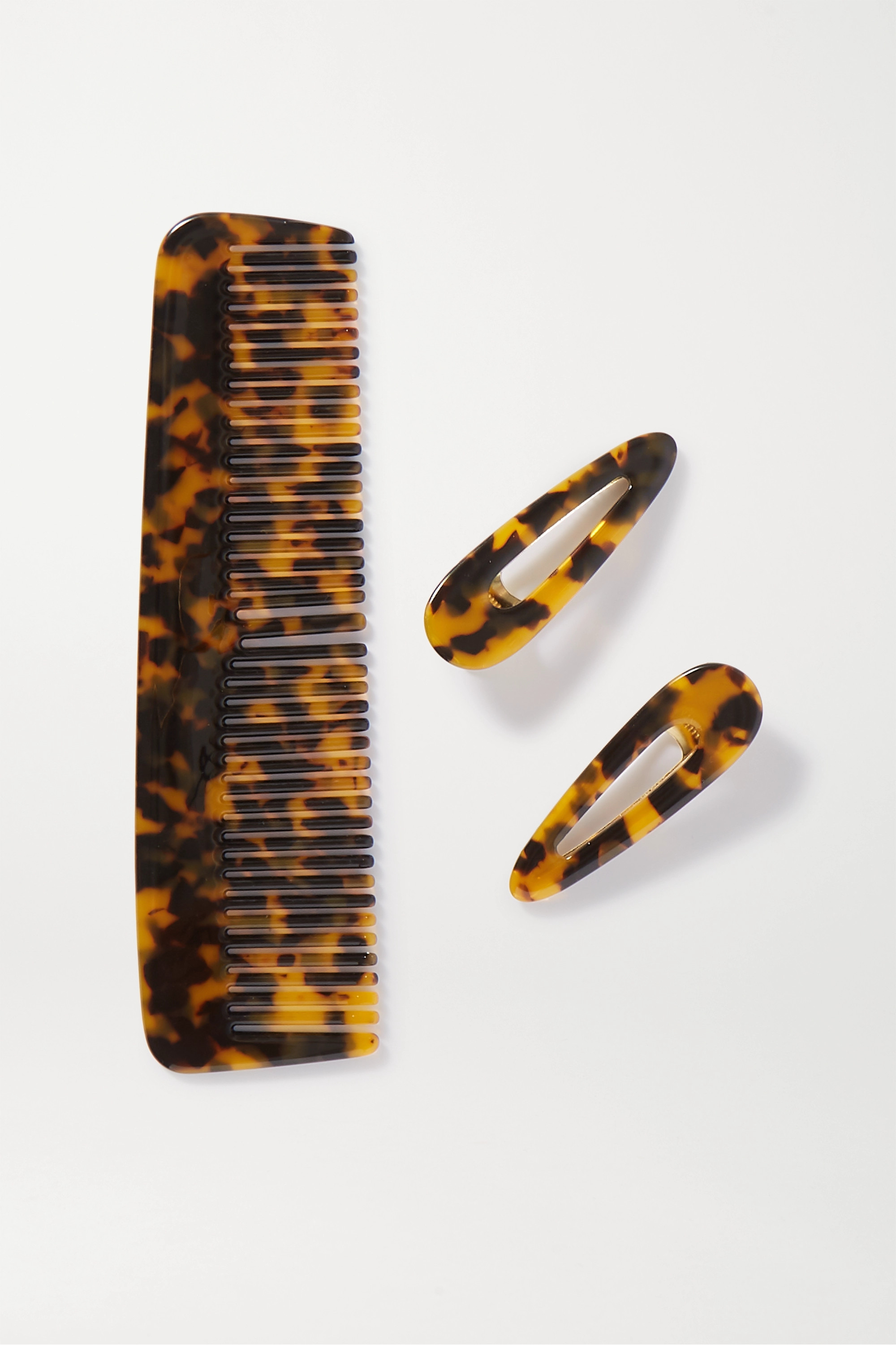 Valet Willa and Kelly tortoiseshell resin comb and hair clips set