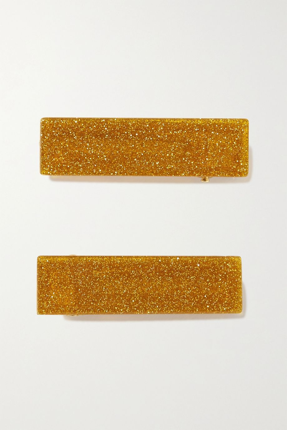 Valet Clementine set of two glittered resin hair clips