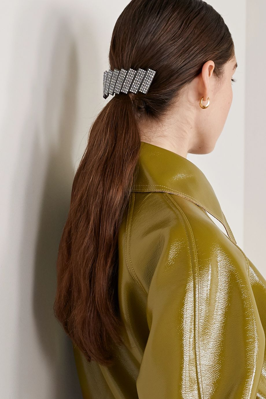 Valet Beatrix crystal-embellished resin hair clip